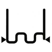 Скоба крупная змейка надрезанная 0.8 мм (100 шт.)