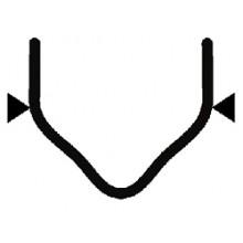 Скоба с внешним углом надрезанная 0.8 мм (100 шт.)