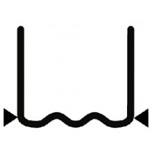 Скоба волнообразная надрезанная 0.8 мм (100 шт.)